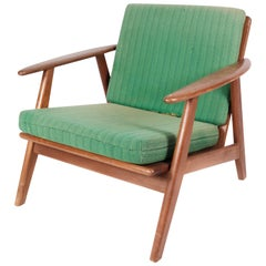 Easy Chair in Teak and with Green Upholstery of Danish Design from the 1960s