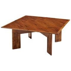 Flip Top Square Table in Italian Walnut