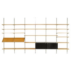 Mid Century Shelving System by George Nelson CSS for Herman Miller, 1960s, Oak