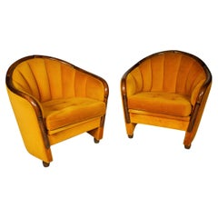 Italian Armchairs in the Style of Gio Ponti, 1950s