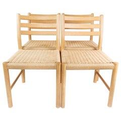 Set of Four Kurt Østervig Oak Dining Chairs for K.P. Møbler, 1960s