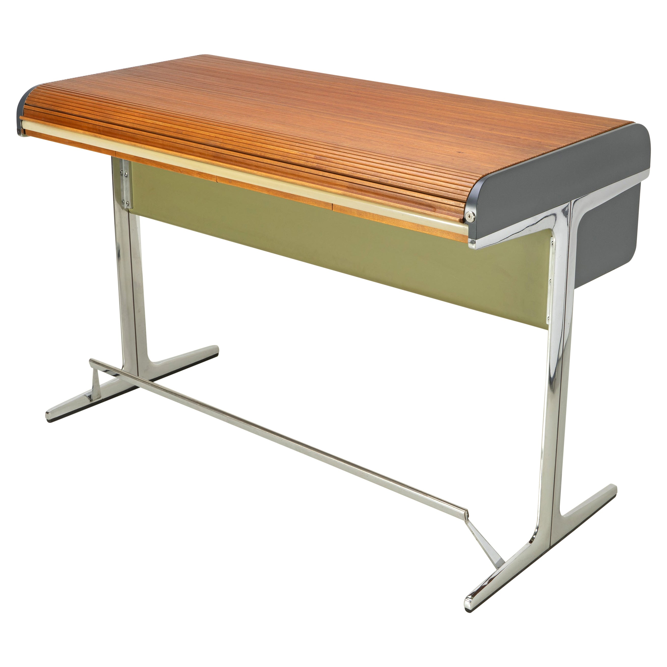 """Standing-Height Roll-Top Desk and Chair by George Nelson """"Action Office"""""""