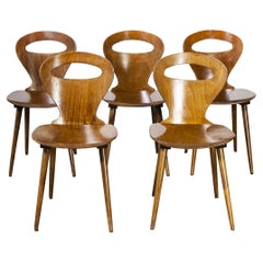 1950's French Baumann Fourmi Dining Chair, Set of Five
