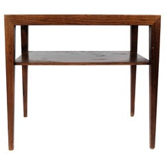 Side Table in Rosewood by Severin Hansen for Haslev, 1960s