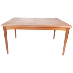 Dining Table in Teak with Extension Plates, of Danish Design from the 1960s