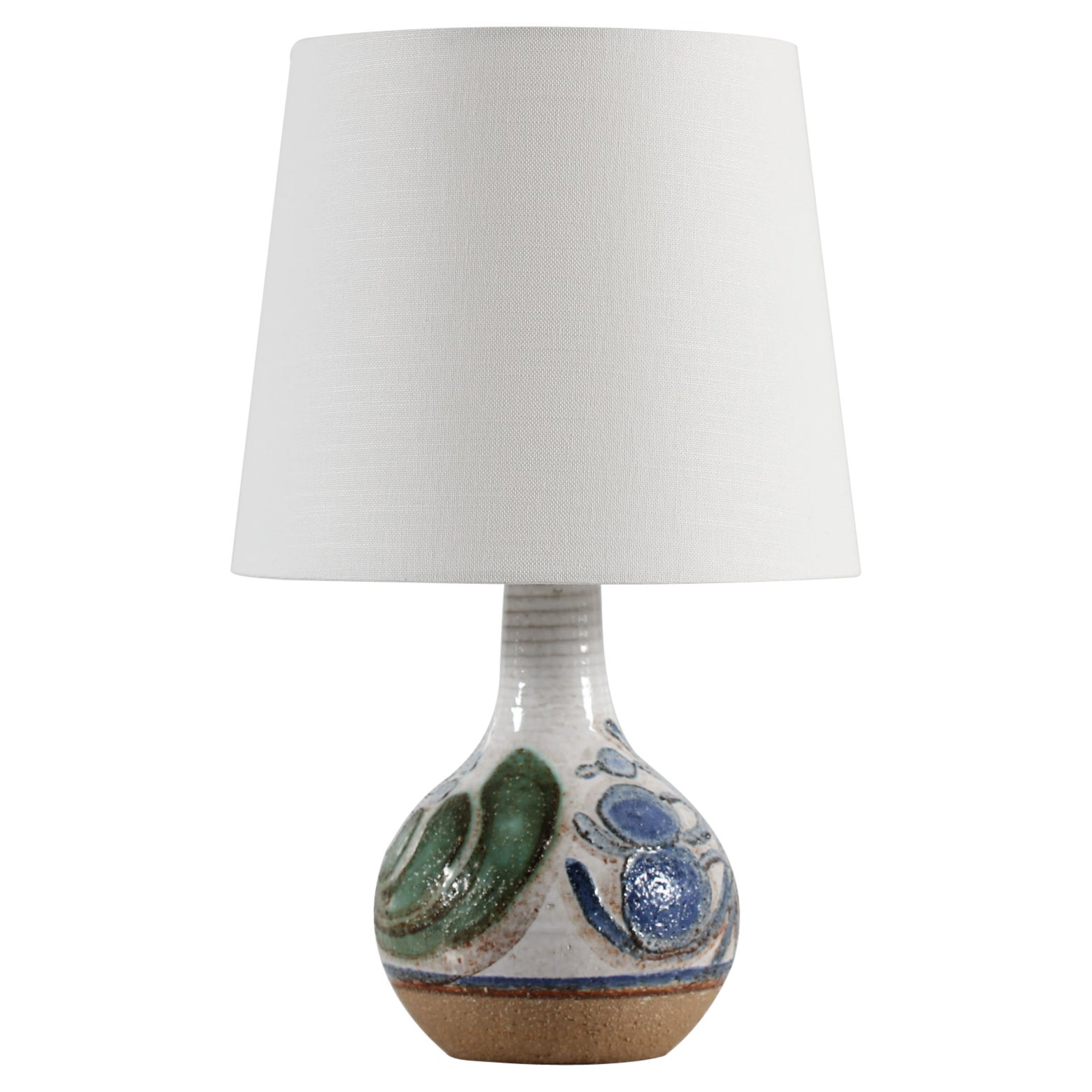 Noomi Backhausen Rustic Søholm Stoneware Table Lamp with New Shade Denmark 1970s