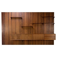 Mid Century Bookcase Wall Unit by Poul Cadovius Denmark 1960s Rosewood