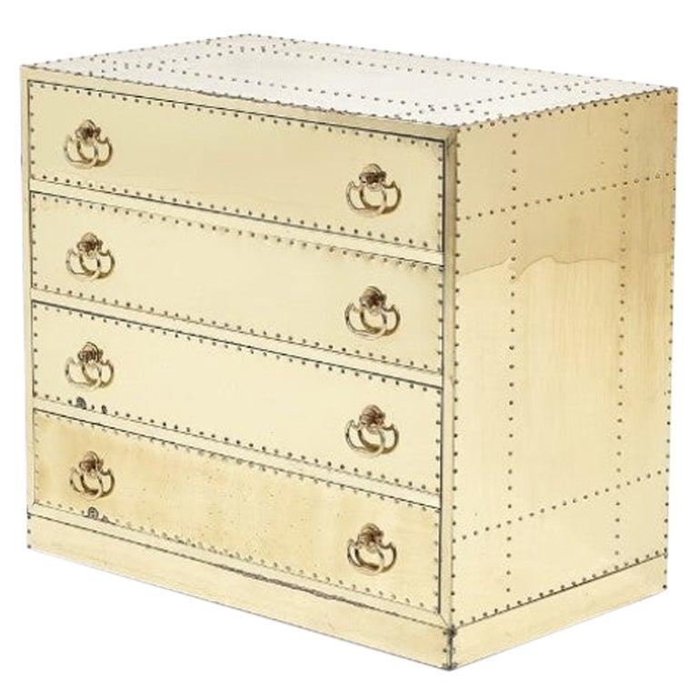 Sarreid Brass-Clad Dresser, 1970