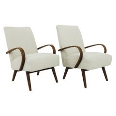 1930s Upholstered Armchairs by J. Halabala, a Pair