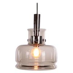 Danish Design Pendant Lamp Made of Smoked Glass Design by Vitrika, 1960s