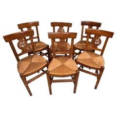 Set of Six Worpsweder Chairs, Germany, 19th Century