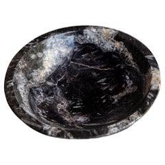 Marble Antique Noir Centre Bowl, Italy, 20th Century