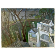 M. Gouirand, House in Landscape, Oil on Canvas, 1955