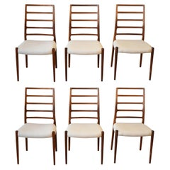 Set of 6 Niels Otto Moller Dining Chairs Model Number 82