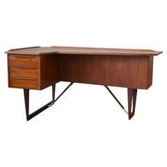 "Mid 20th Century Teak ""Boomerang"" Desk by Peter Løvig Nielsen Danish"