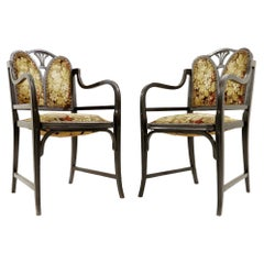 Pair of Bentwood Armchairs by Thonet, Austria, 1900s