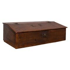 Antique Verger's Table Top Desk, English, Oak, Ecclesiastical, William III, 1700