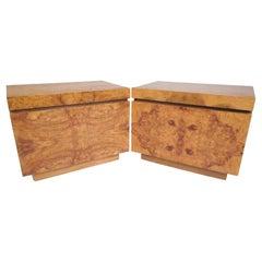 Burlwood Mid-Century Nightstands for Lane Furniture