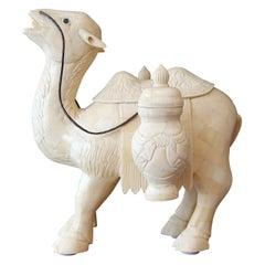 Tessellated Bone Camel Sculpture