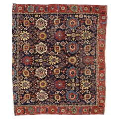 Early 19th Century Antique Azerbaijan Rug with Harshang Design