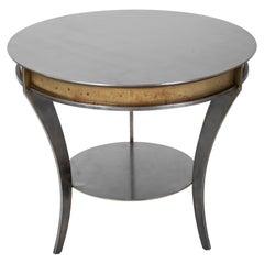 Mid-Century Modern Maison Jansen Steel Side Table