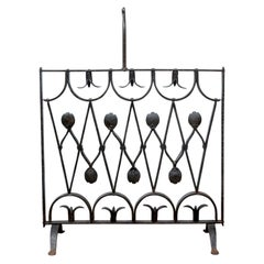 Artisan Made Iron Fire Screen After Diego Giacometti
