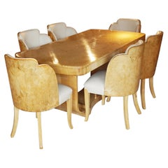 Art Deco Six Seat Dining Suite by Harry & Lou Epstein English, Circa 1935