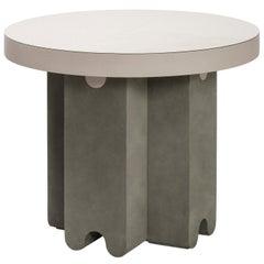 Contemporary Leather Side Table, Ossicle by Francesco Balzano for Giobagnara
