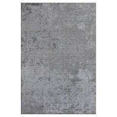 Post Modern Gray and Beige 5x10 Gallery Runner Area Rug in Stock