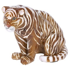 Mid Century Terra Cotta Tiger