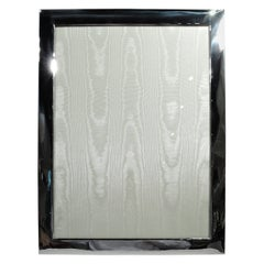 Very Large Mid-Century Modern Sterling Silver Picture Frame