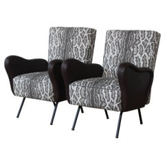 Pair of Mid-Century Marco Zanuso Style Chairs, Italy, 1950s