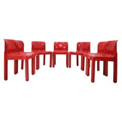 Set of Five Chairs Kartell Designed by Carlo Bartoli, Italy, 1980s