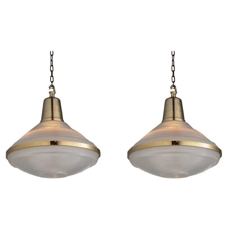 Extra Large Prismatic Deco Lights, England circa 1920 For Sale