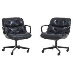 Pair Knoll Pollak Desk Chairs, 1960