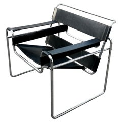 """Chair Armchair """"wassily"""" Model Design by Marcel Breuer for Gavina, 1960s"""