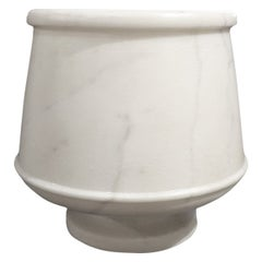 Hand-Carved Marble Goblet or Vase from India