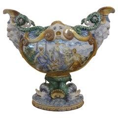 Early 20th Century Italian Majolica Urn
