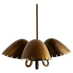 Brass Pendant by Carl-Axel Acking, Sweden, 1940s