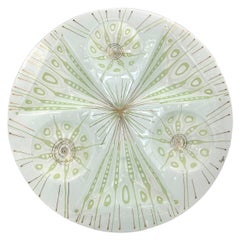 1960s Peacock Serving Tray by Higgins Glass