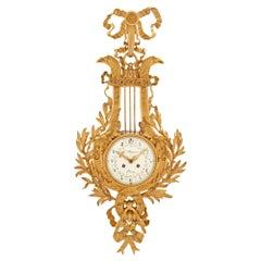 French 19th Century Louis XVI Style Cartel Clock, Signed Le Masurier, Paris