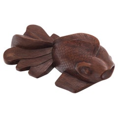Chinese Lucky Goldfish Sculpture, c. 1900