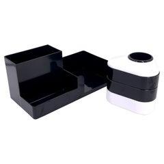 Space Age Plastic Desk Set Organizer