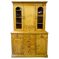 English Pine Stepback Kitchen Cupboard