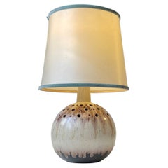 Spherical Scandinavian Modern Pottery Table Lamp, 1970s