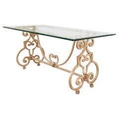 Spanish Colonial Style Iron Patio and Garden Dining Table