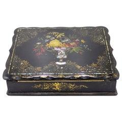 English Victorian Papier Mache Desk Box