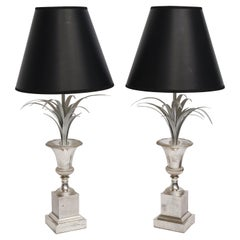 """Pair of Maison Charles """"Lotus Lamps"""""""