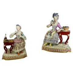 Pair of Meissen Figures Allegorical of Taste & Smell