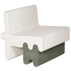 Contemporary Leather Armchair, Ossicle by Francesco Balzano for Giobagnara